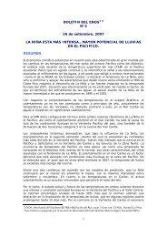 1 BOLETIN DEL ENOS1 2 N°4 26 de setiembre, 2007 LA NIÑA ...