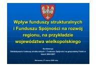 Wpływ funduszy strukturalnych i Funduszu Spójności na rozwój ...