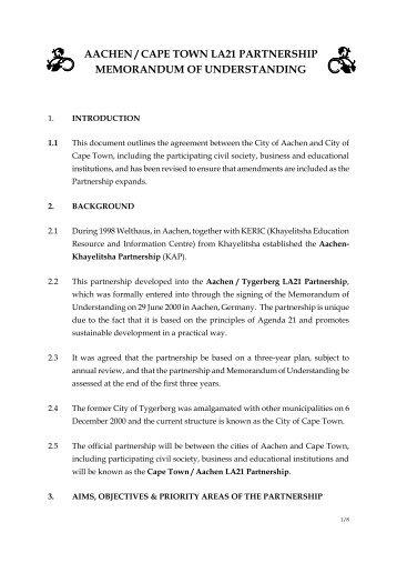 Partnership Development Sample Tool Memorandum Of    Hud