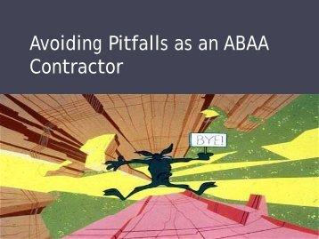 Darren Newhook - Avoiding Pitfalls as an ABAA