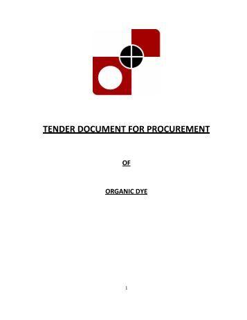Equipment tender document