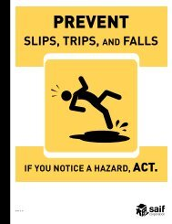 Prevent Slips, Trips, and Falls - SAIF Corporation