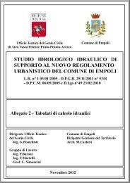 studio idrologico idraulico di supporto al nuovo regolamento ...