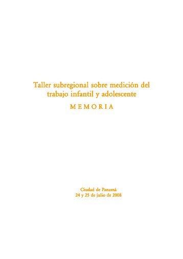 Taller subregional sobre medición del trabajo infantil y adolescente