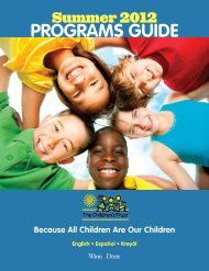 PrOgrAms guide - Our Kids