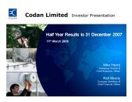 Half Year Results to 31 December 2007