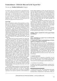 Examensklausur – Zivilrecht: Haus am See für Tag am Meer - ZJS
