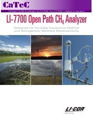 LI-7700 Open Path CH4 Analyzer