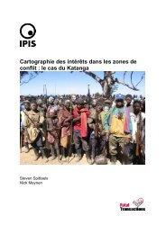 Cartographie des intérêts dans les zones de conflit : le cas du ... - Ipis