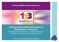 Understanding Underachievement in Mathematics / Numeracy
