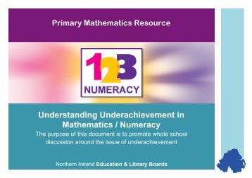 Understanding Underachievement in Mathematics / Numeracy