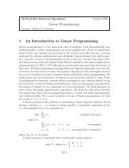 Linear Programming 1 An Introduction to Linear Programming