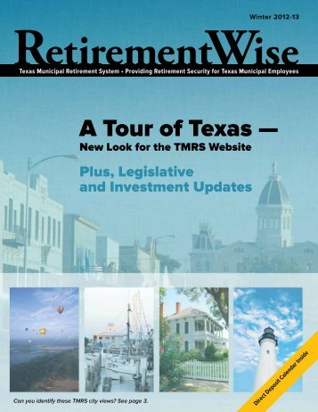 Winter 2012-13 - Texas Municipal Retirement System