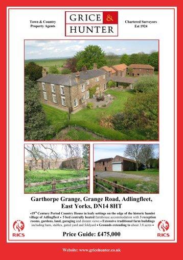 Garthorpe Grange2, Adlingfleet - Grice & Hunter