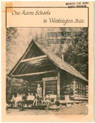 One-Room Schools In Washington State - Washington State Digital ...