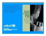 Developments in social protection - The Coalition for Children ...