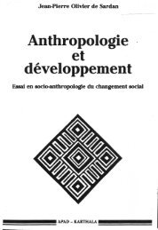 Anthropologie . developpement