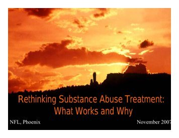 Rethinking Substance Abuse Treatment - Drug Policy Alliance