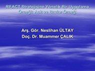 React Strateji-Ultay ve Calık