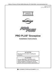 II PRO PLUS Snowplow #64750/64999/66901/66974/66980