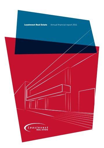 Leasinvest Real Estate Annual financial report ... - Alle jaarverslagen