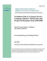 Evolution of the US Energy Service Company Industry - Electricity ...