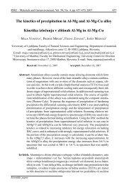 The kinetics of precipitation in Al-Mg and Al-Mg-Cu alloy ... - RMZ