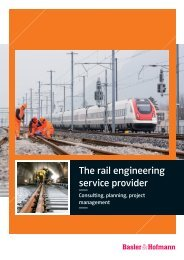 The rail engineering service provider - Basler & Hofmann