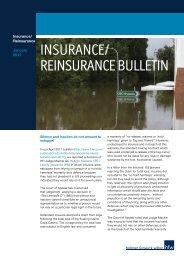 INSURANCE/ REINSURANCE BULLETIN - HFW