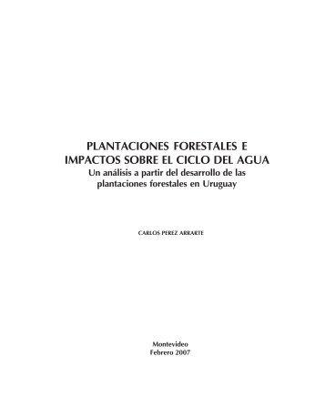 plantaciones forestales e impactos sobre el ciclo del agua