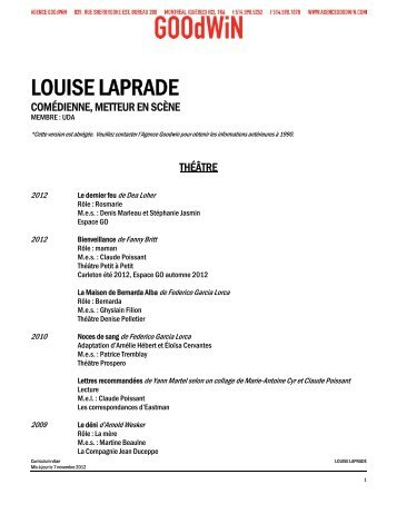 LOUISE LAPRADE - Agence Goodwin