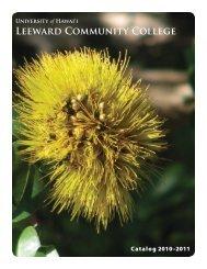 2010-2011 Catalog - Leeward Community College - University of ...