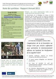 Note de synthese OIFLEG Congo May 2012 ... - Forests Monitor