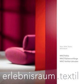 Produktprospekt Erlebnisraum - Zweifel Storen, Guilbert Storen