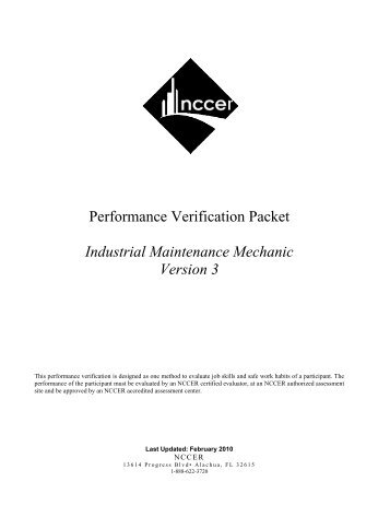 Industrial Maintenance Mechanic - NCCER