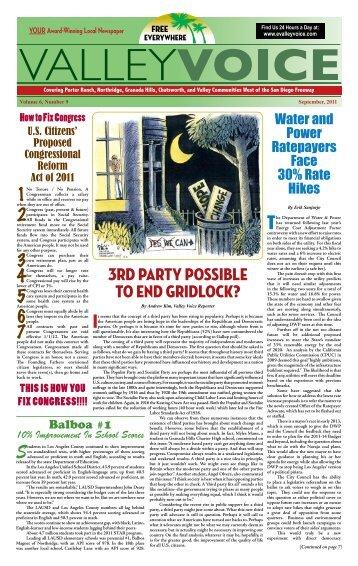 September 2011 - Valley Voice Newspaper