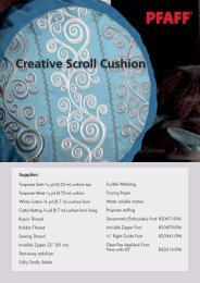 Creative Scroll Cushion (pdf) - Pfaff