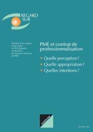 PME et contrat de professionnalisation - Agefos PME