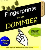 Fingerprints for Dummies - Always Free - Onin.com