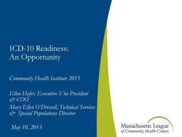 The ICD-10 Timeline - Massachusetts League of Community Health ...