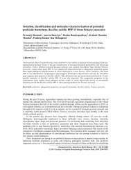 Isolation, identification and molecular characterization of potential ...