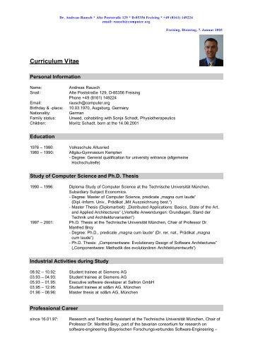 curriculum vitae [pdf] - kurse
