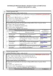 INFORMA II PRIVIND MEDIUL DE INUTE DE AUTORITATILE ...