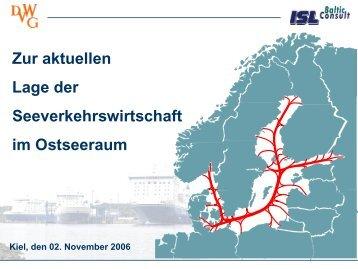 Zur aktuellen Lage der Seeverkehrswirtschaft im ... - Sutranet