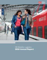 DB Mobility Logistics 2010 Annual Report - Deutsche Bahn  AG