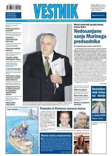 Nedosanjane sanje Murinega predsednika - Pomurje.si