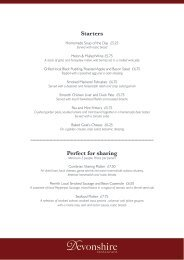 Starters Perfect for sharing - Lake District Hotels