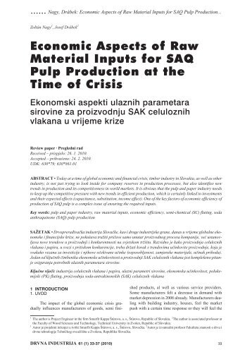 Economic Aspects of Raw Material Inputs for SAQ Pulp Production ...