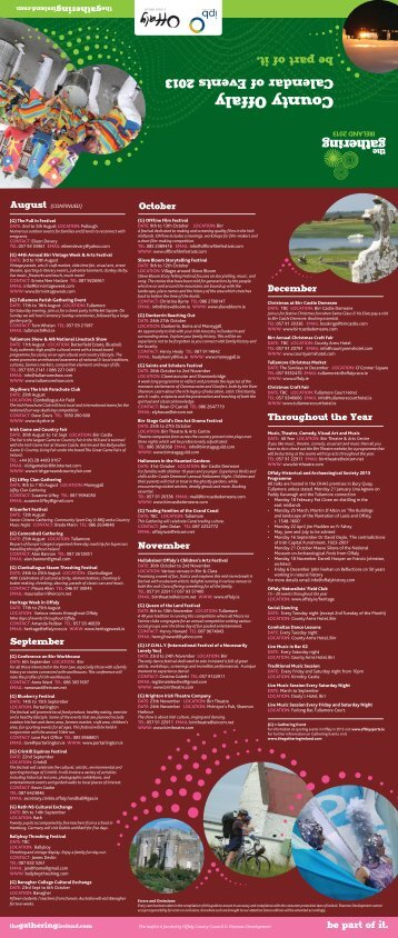 Download Offaly Festivals 2013 Brochure - Shannon Region Trails