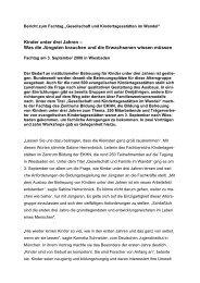 Download Bericht zum Fachtag - Zentrum Bildung